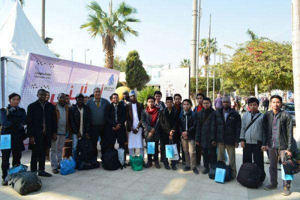 جولة ثقافية للطلاب الوافدين  بمعرض القاهرة الدولي للكتاب  وزيارة جناح المجلس الأعلى  للشئون الإسلامية