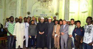 في إطار حملة هذا هو الإسلام  وزير الأوقاف يلتقي الوافدين من ١١ دولة أفريقية وأسيوية  المشاركين في معسكر أبي بكر الصديق بالإسكندرية